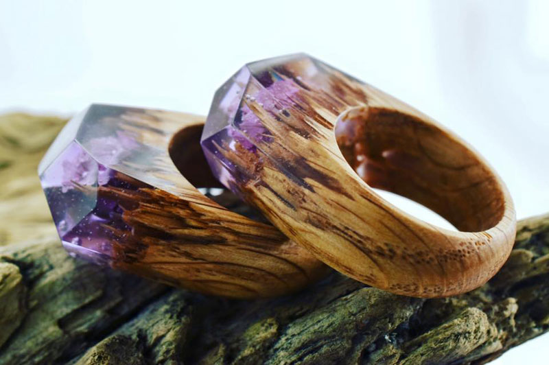 Miniature Landscapes Inside Rings of Wood and Resin by Secret Wood (9)