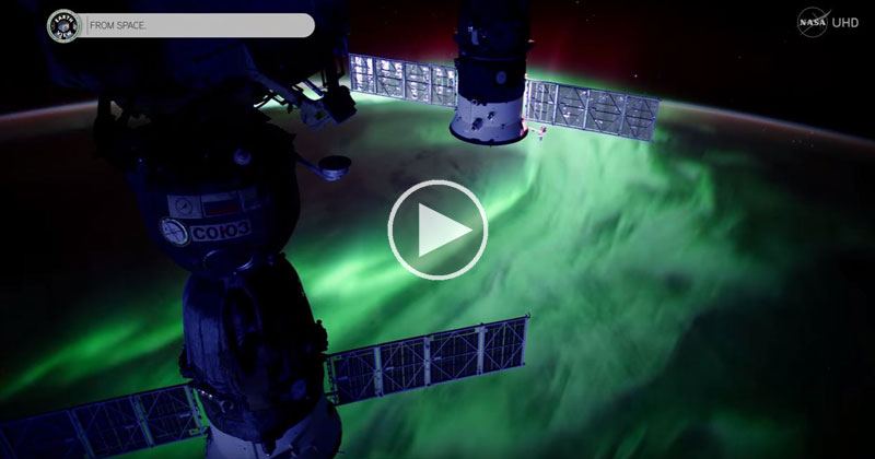 NASA Releases Jaw Dropping Footage of Aurora Borealis in Ultra HD 4K