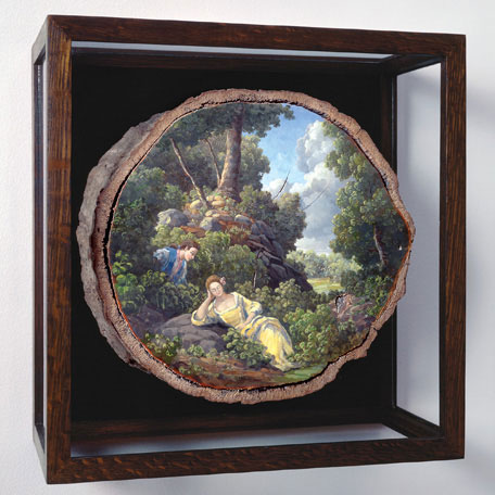 oil paintings on fallen logs by Alison Moritsugu (10)