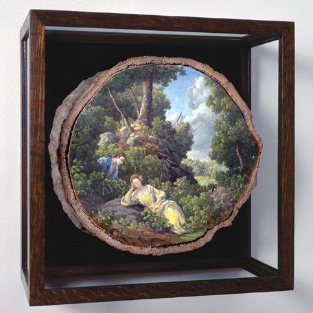 oil paintings on fallen logs by Alison Moritsugu (10)