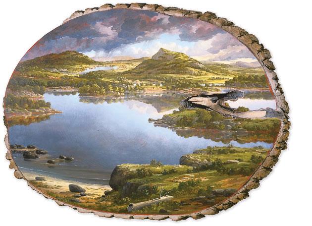 oil paintings on fallen logs by Alison Moritsugu (6)