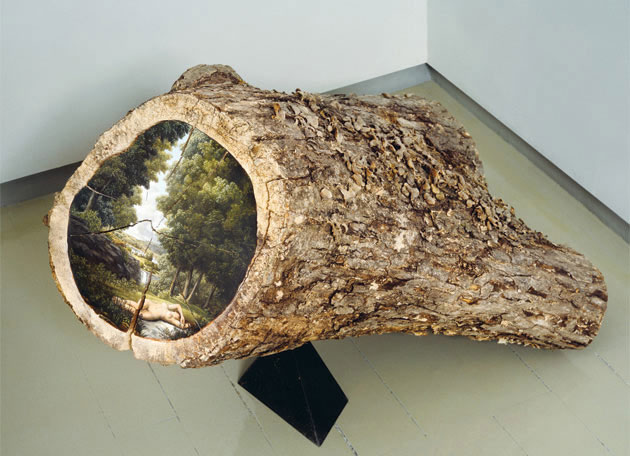 oil paintings on fallen logs by Alison Moritsugu (7)