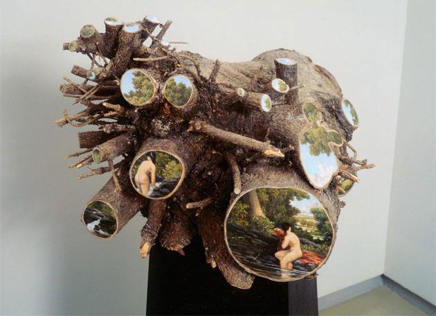 oil paintings on fallen logs by Alison Moritsugu (8)