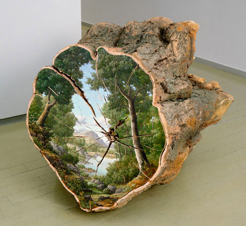 oil paintings on fallen logs by Alison Moritsugu (9)