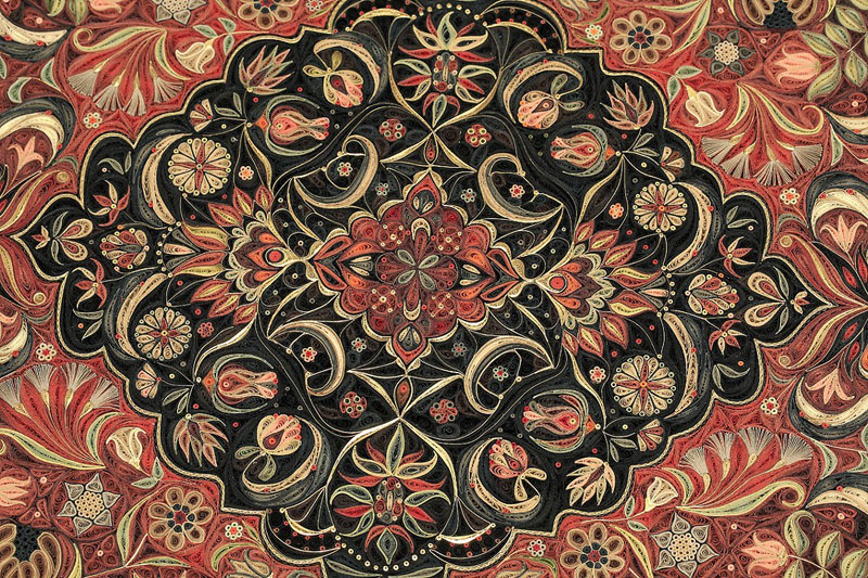 paper filigree quilling oriental rugs by lisa nilsson (5)