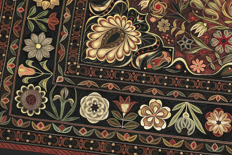 paper filigree quilling oriental rugs by lisa nilsson 6