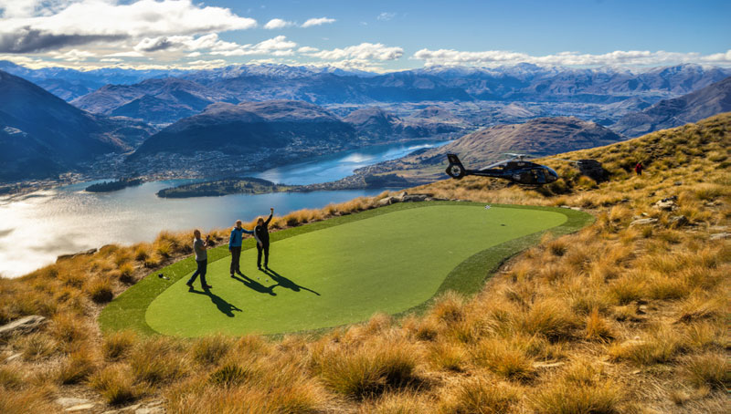 Helicopter Golf: A Par 3 in the Sky Overlooking Queenstown