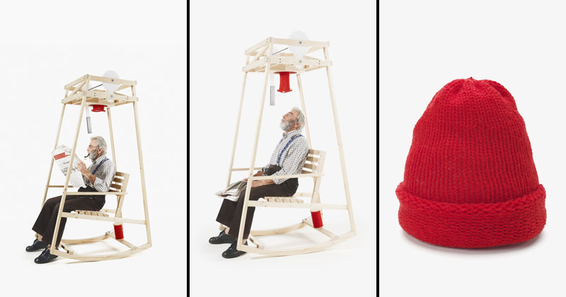 Rocking Back And Forth ~ This rocking chair knits you a hat as rock back and