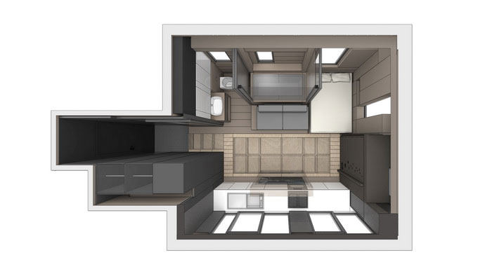 Smart Transformable Microflat by LAAB Architects (9)