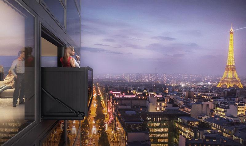 Balcon etrange et insolite for Fenetre qui se transforme en balcon