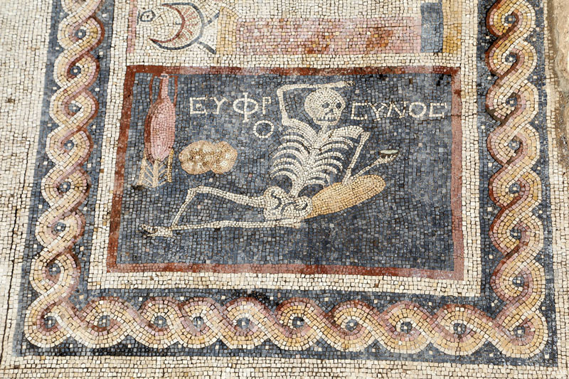 2200-Year-Old  Skeleton Mosaic That Says Be Cheerful, Live Your Life Discovered in Turkey (2)