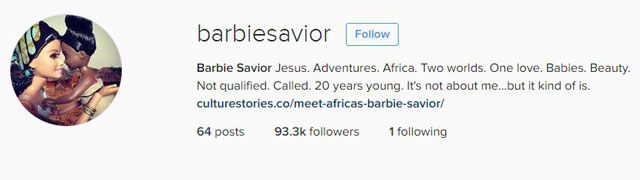 barbie savior instagram africa Hipster Barbie is Back and This Time Shes Saving Africa