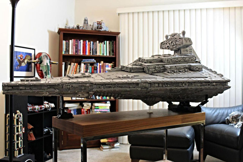 Guy Builds Amazing Lego Star Destroyer With Three Level