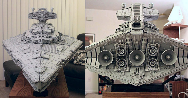 Guy Builds Amazing Lego Star Destroyer With Three-Level Interior