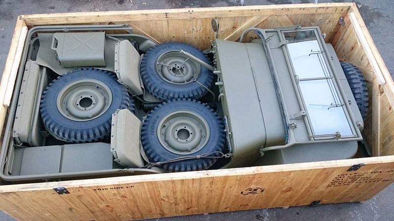 jeep in a crate Picture of the Day: A Military Jeep Neatly Packed in a Crate