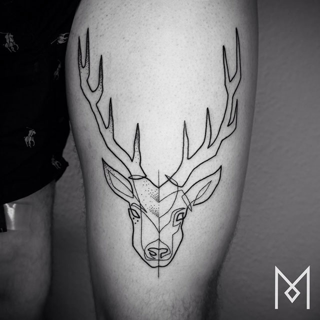 One Line Art Tattoo : One line tattoos by mo ganji photos «twistedsifter
