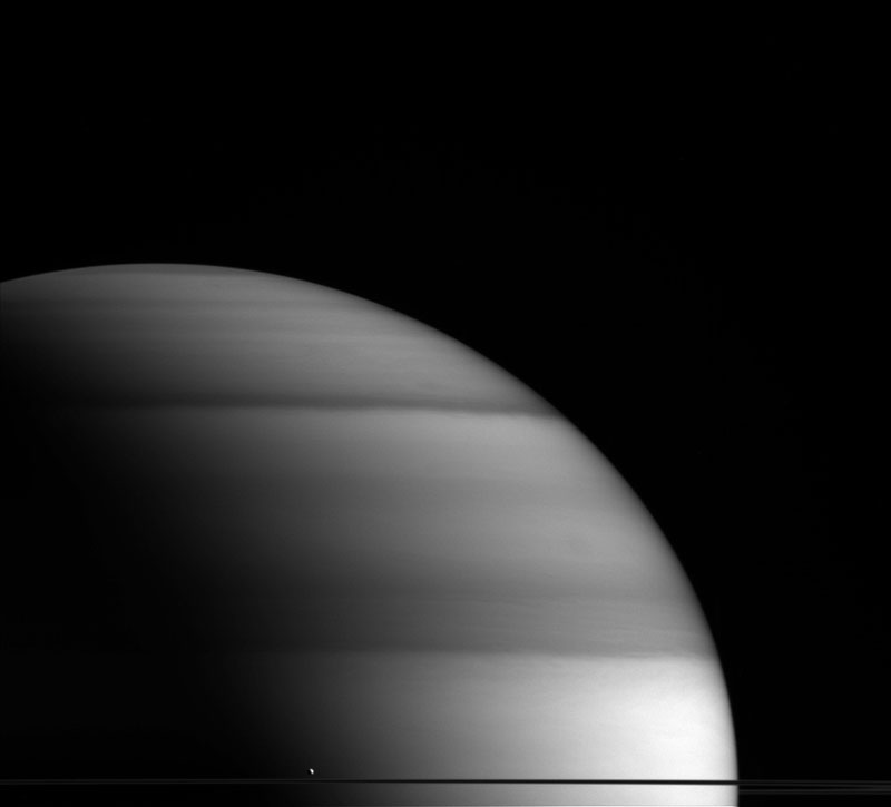 saturns little water world Picture of the Day: Saturns Little Water World