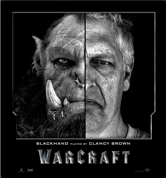 Split Face Portraits of Warcraft Actors and Their CGI Counterpart (1)