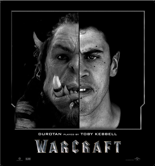 Split Face Portraits of Warcraft Actors and Their CGI Counterpart (6)