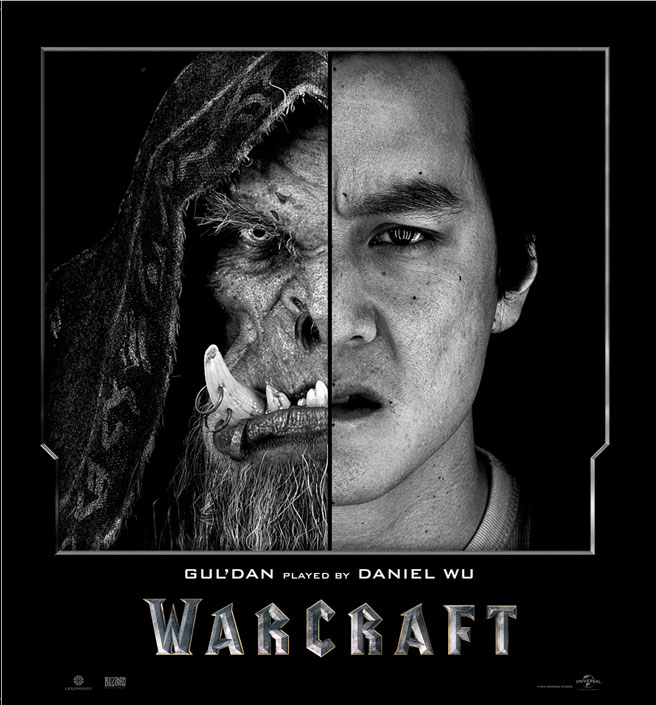Split Face Portraits of Warcraft Actors and Their CGI Counterpart (7)