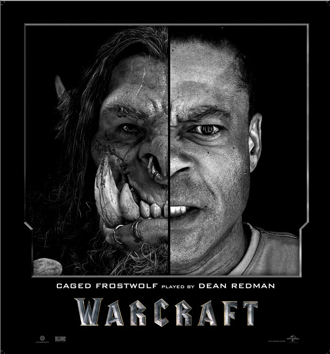 Split Face Portraits of Warcraft Actors and Their CGI Counterpart (8)
