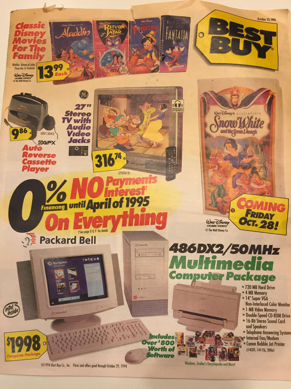 This Best Buy Flyer from 1994 Shows How Fast Technology Has Changed (1)