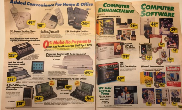 This Best Buy Flyer from 1994 Shows How Fast Technology Has