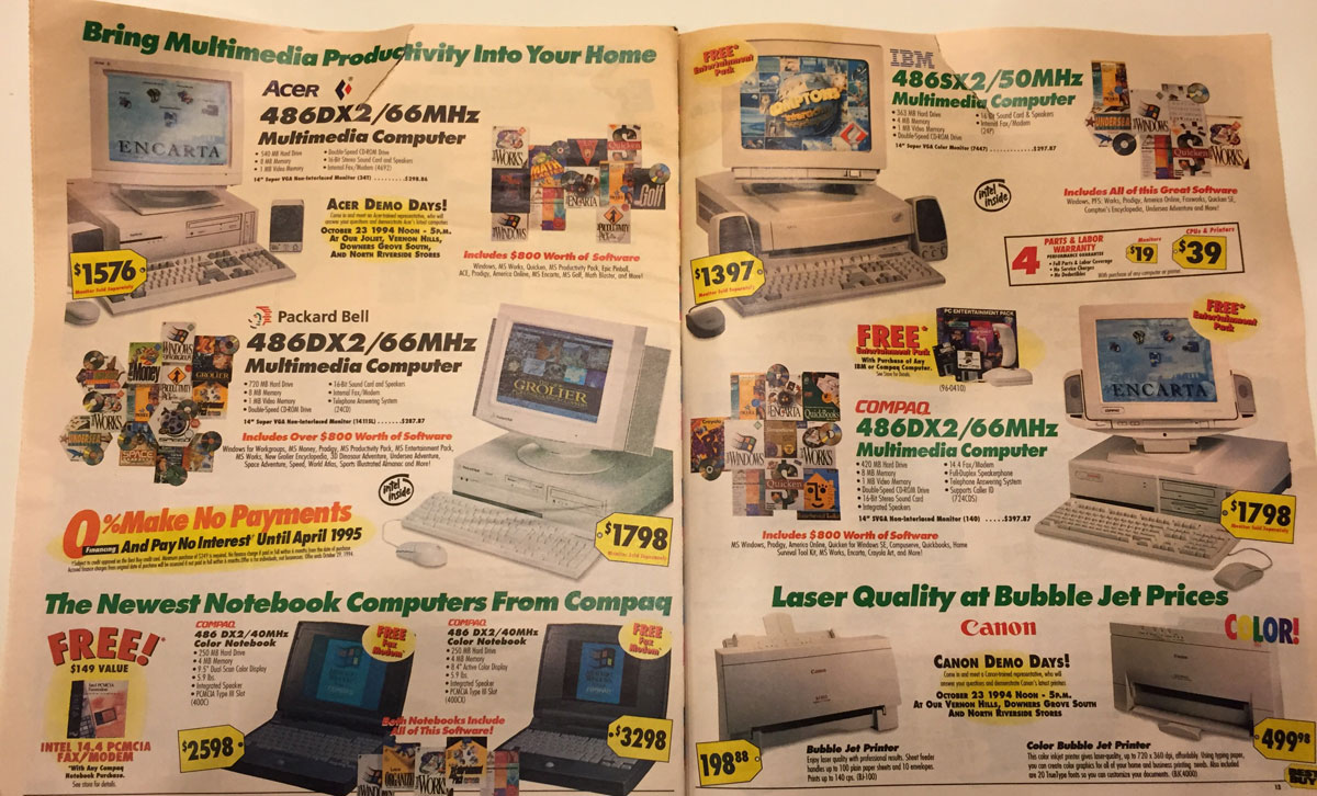 This Best Buy Flyer from 1994 Shows How Fast Technology Has Changed (7)