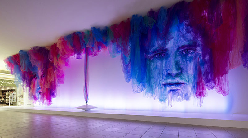 Tulle Installation 'The Dance' par Benjamin Shine (2)