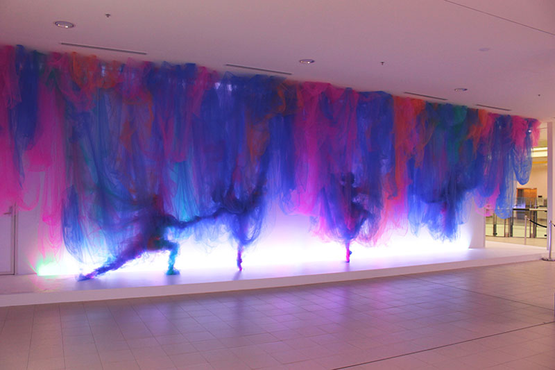 Tulle Installation 'The Dance' by Benjamin Shine (5)