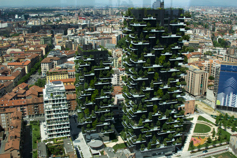 the incredible vertical forest residential towers in milan italy
