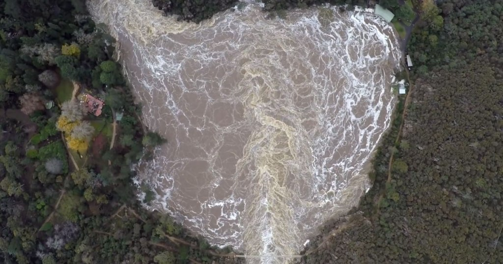 Drone Captures the Relentless Power of Floods from Above