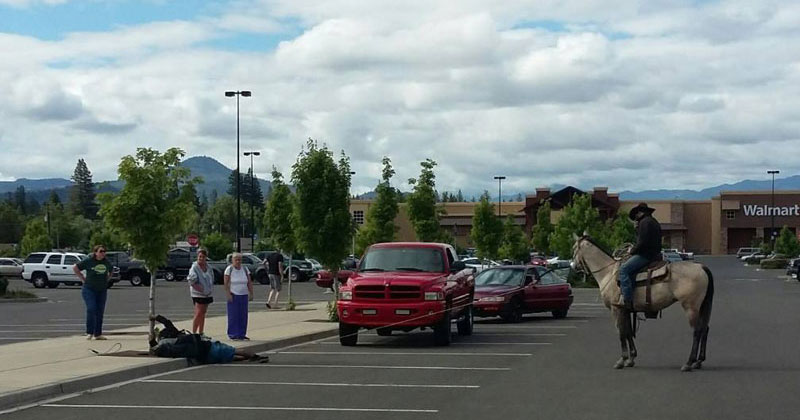 So a Guy on a Horse Just Lassoed a Bike Thief in a Walmart ParkingLot
