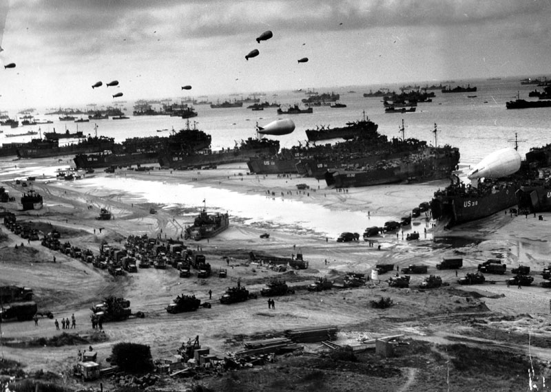 omaha-beach-normandy-france-d-day-then-and-now-world-war-II-then