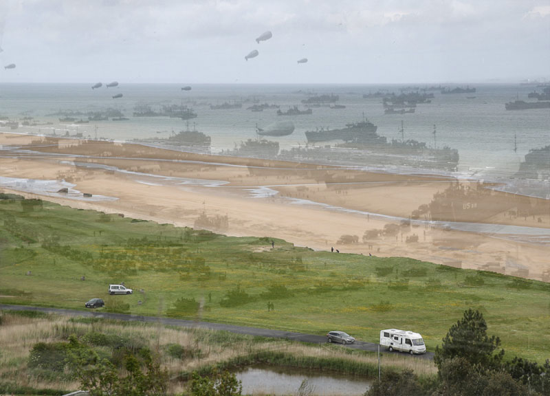 omaha-beach-normandy-france-d-day-then-and-now-world-war-II