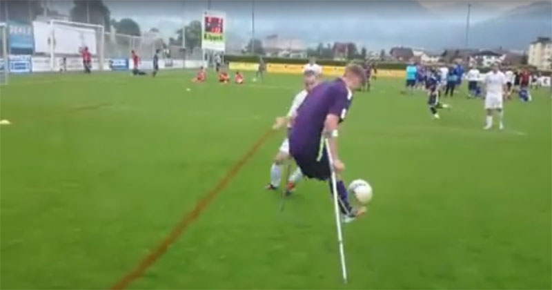Amputee Footballer Scores the Nicest Goal You'll See Today