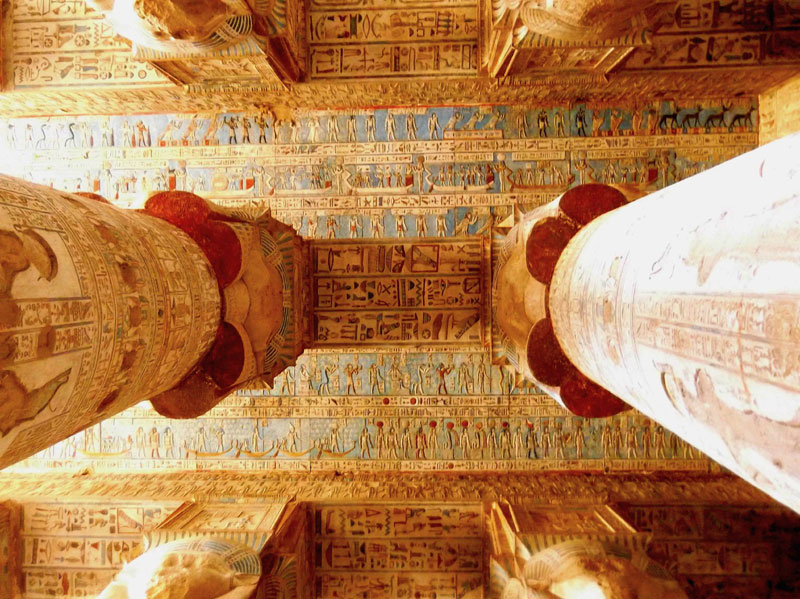painted ceiling of hathor temple egypt Picture of the Day: 2,200 Year Old Paint Preserved By Dry Desert Air