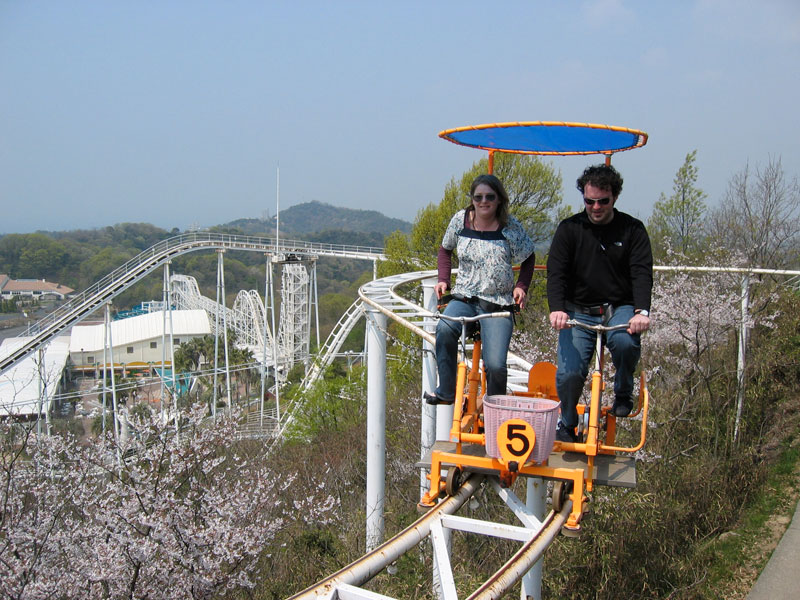 Japans Pedal Powered Roller Coaster Lets You Soak In Your - Pedal powered skycycle rollercoaster japan amazing