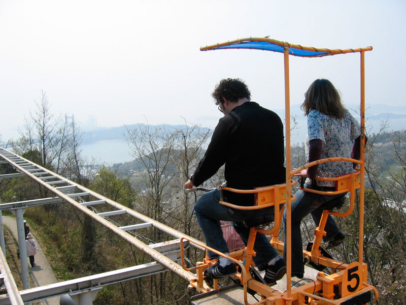 Japan S Pedal Powered Roller Coaster Lets You Soak In Your