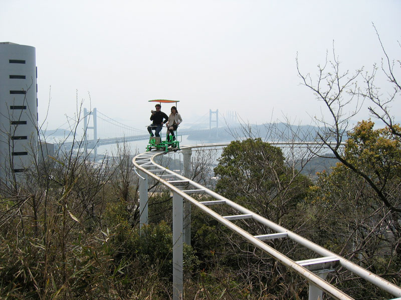 sky cycle pedal powered rolloer coaster japan (5)