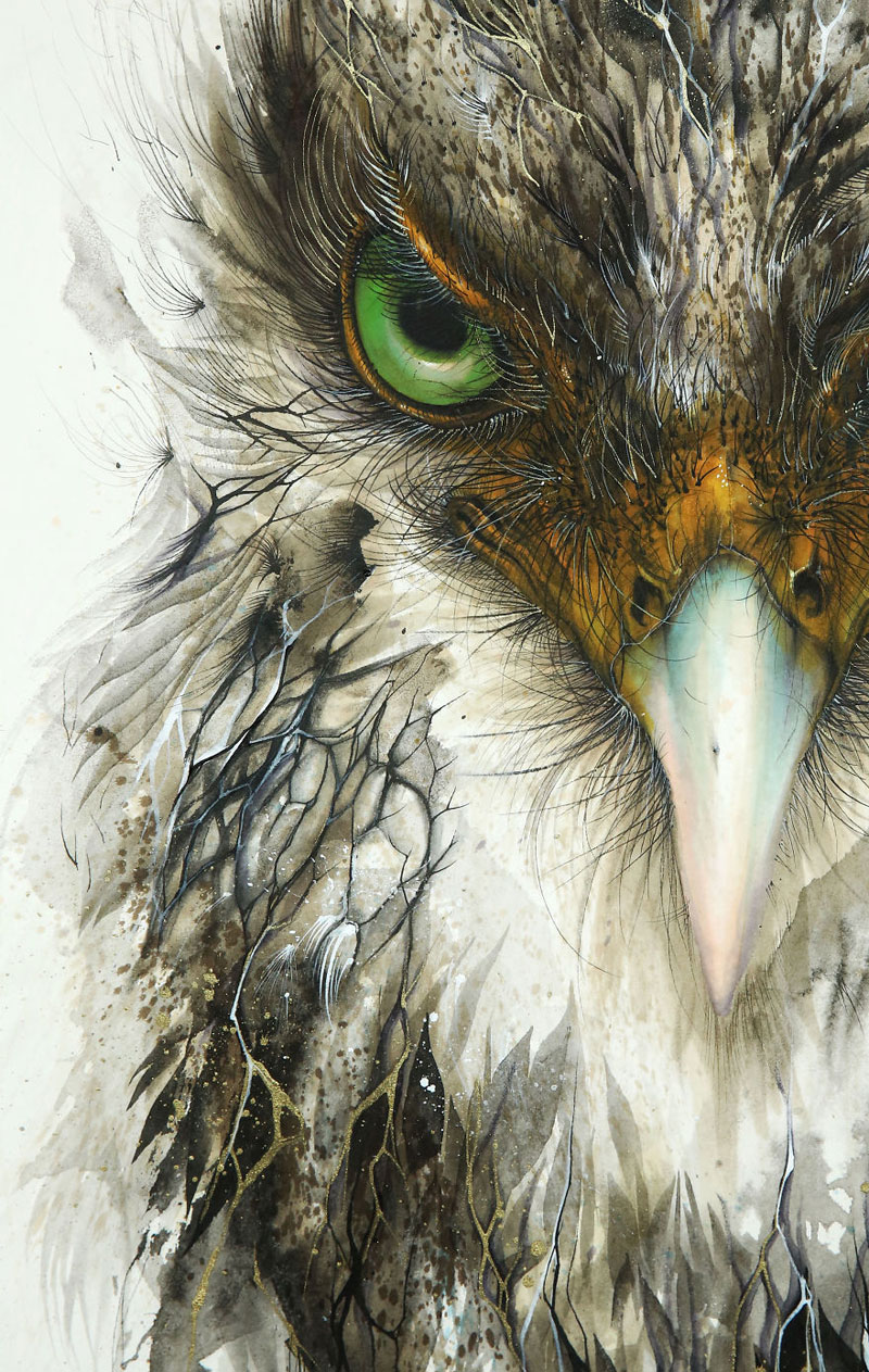 splattered ink animal paintings by chen yingjie aka hua tunan (10)