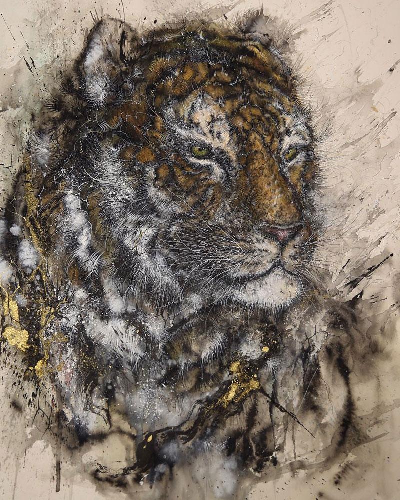 splattered ink animal paintings by chen yingjie aka hua tunan (11)