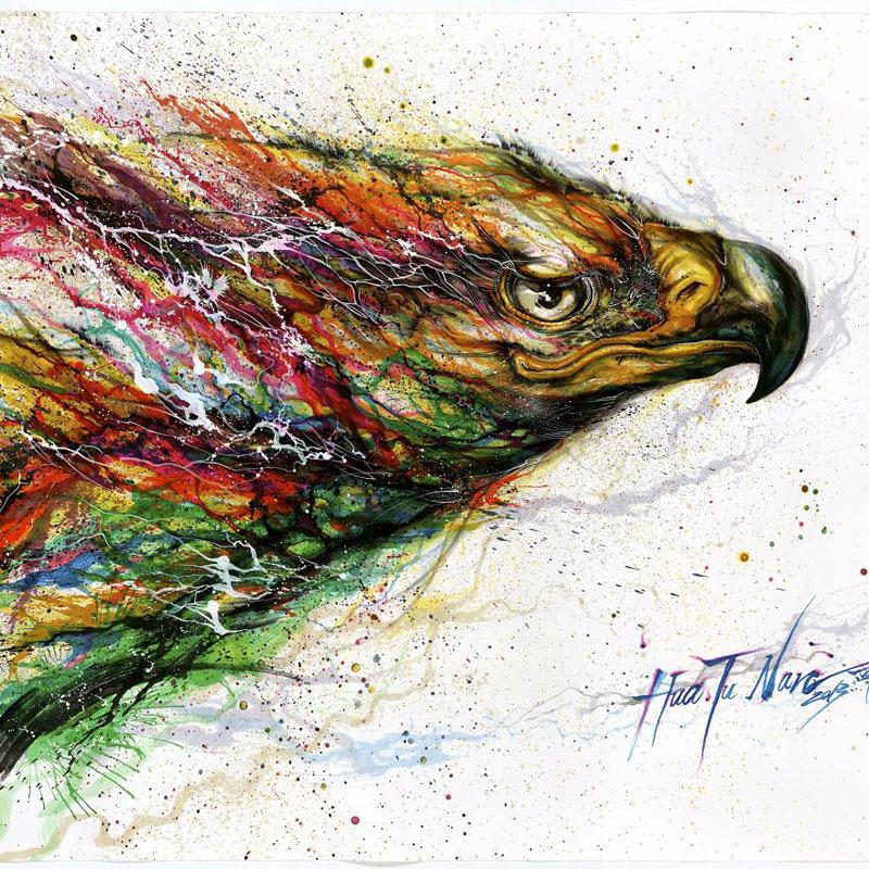 splattered ink animal paintings by chen yingjie aka hua tunan (12)