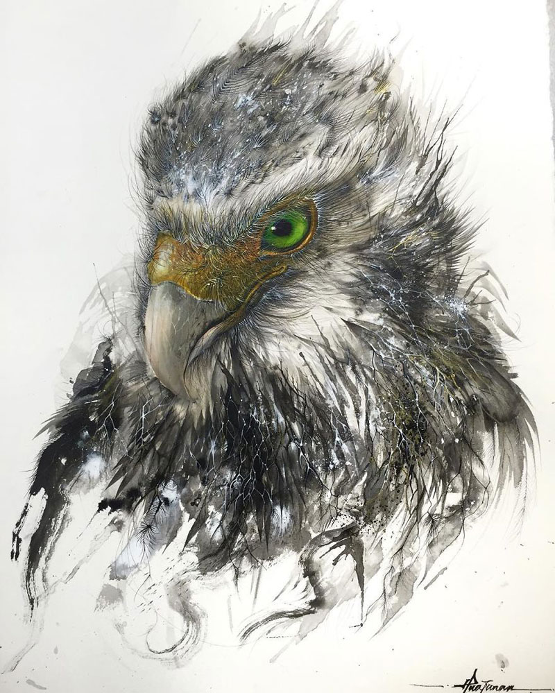 splattered ink animal paintings by chen yingjie aka hua tunan (14)