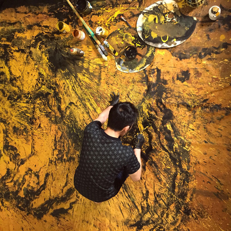 splattered ink animal paintings by chen yingjie aka hua tunan (2)