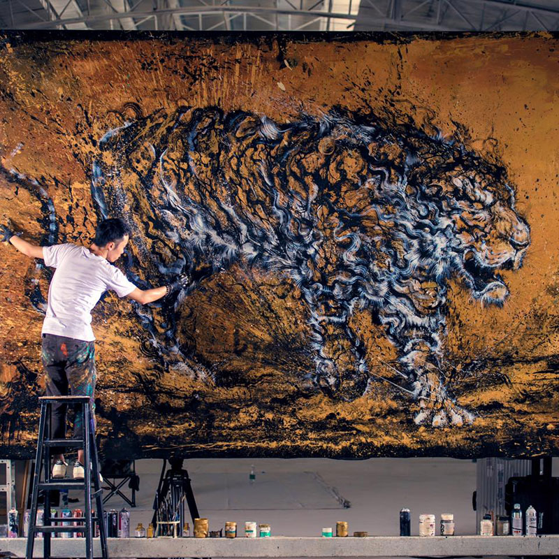 splattered ink animal paintings by chen yingjie aka hua tunan (3)