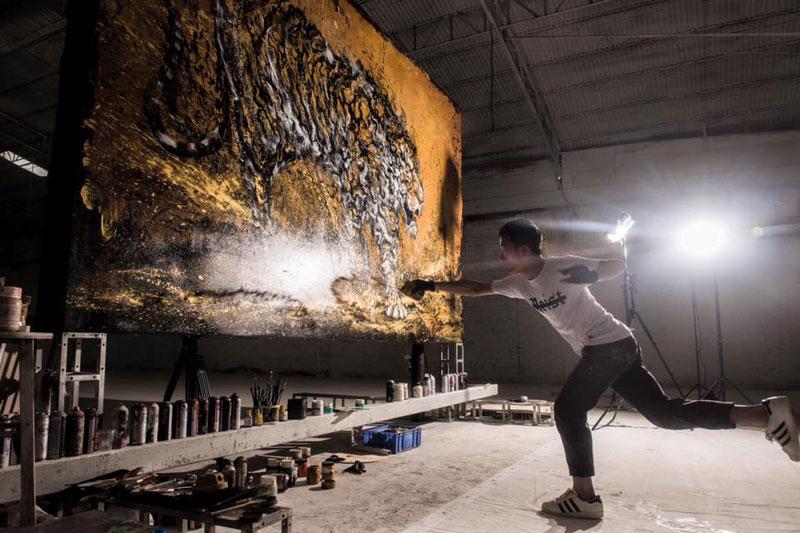 splattered ink animal paintings by chen yingjie aka hua tunan (4)