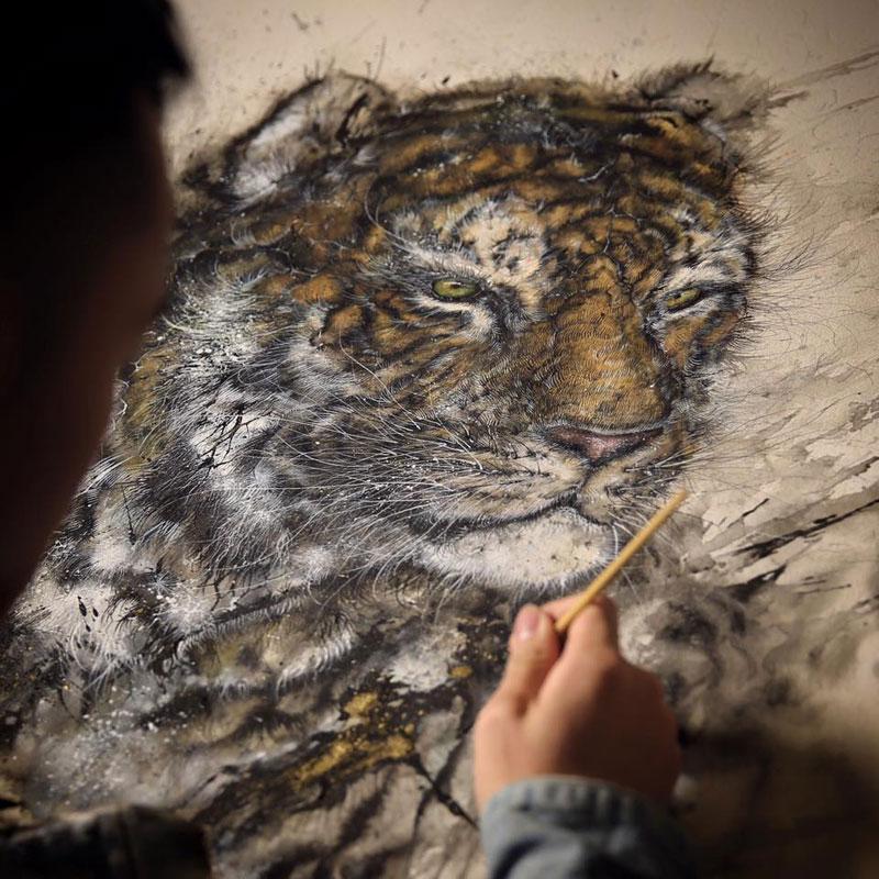 splattered ink animal paintings by chen yingjie aka hua tunan (6)