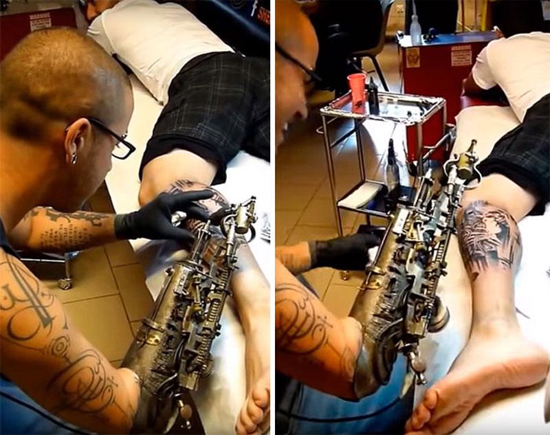 Artist Turns Prosthetic Arm Into Badass Tattoo Machine ...
