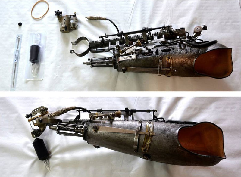 Tattoo Artist Turns Prosthetic Arm Into Badass Tattoo Machine (7)